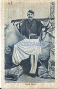 65056 ALBANIA GOJANË COSTUMES MAN SOLDIER POSTAL POSTCARD - Albanie