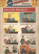 WORLD'S GREATEST COMICS THE OVERSEAS WEEKLY Du 23/01/1966 Beetle Bailey By Mort Walker - Livres, BD, Revues
