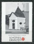 Österreich - Vignette .    Johannes-Nepomuk-Kapelle In Kitzbühel - Vignetten (Erinnophilie)