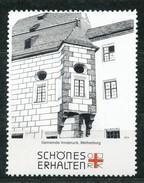 Österreich - Vignette .    Gemeinde Innsbruck,Weiherburg - Vignetten (Erinnophilie)