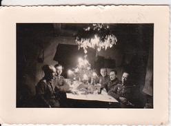 Foto Deutsche Soldaten Bei Weihnachtsfeier - Majathawo(?) - 1941 - 7*5cm (26898) - Orte