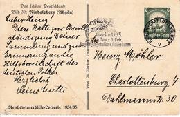 Allemagne Entier Postal 1935 Berlin Charlottenburg Grüne Woche Berlin - Allemagne