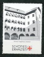 Österreich - Vignette .    Schwarz,Fuggerhaus,Innenhof - Vignetten (Erinnophilie)
