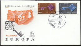 Andorra 1968 / Europa CEPT / FDC / Key - Europa-CEPT