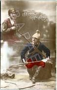 Le Rêve Du Dragon (Circulé En 1915) - Patriotiques