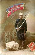 Un Salut Du Front (Circulé En 1916) - Patriotiques