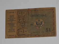 1 One Dollar  - Série 472 Military Payment Certificate 1970   ***** EN ACHAT IMMEDIAT ***** - Military Payment Certificates (1946-1973)