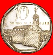 § CASTLE: CUBA ★ 10 CENTAVOS 2000 COIN Alignment ↑↓ CONVERTIBLE PESO! LOW START★ NO RESERVE - Cuba