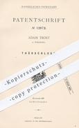 Original Patent - Adam Trost , Würzburg , 1880 , Türschloss | Schloss , Tür , Türen , Schlosser , Schlosserei !!! - Historische Dokumente