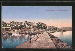 CPA Hercegnovi / Castelnuovo, Blick Von Der Mole Auf Den Küstenort - Montenegro