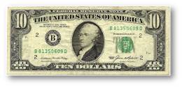U. S. A. - 10 DOLLARS - 1985 - Pick 476 - ( B ) - BANK OF NEW YORK - Alexander Hamilton / Treasury Building - Billets De La Federal Reserve (1928-...)