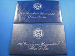 LOT Of 2 U.S. EISENHOWER UNCIRCULATED DOLLARS -1971S & 1973S  (dps14-15) - Federal Issues