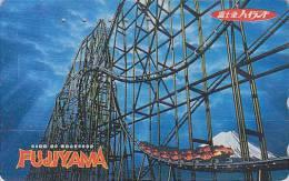 Télécarte Japon - PARC D´ATTRACTION & Volcan FUJI - AMUSEMENT PARK Japan Phonecard - VERGNÜGUNGSPARK - ATT 115 - Jeux