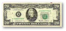 U. S. A. - 20 DOLLARS - 1985 - Pick 477 - ( A ) - BANK OF BOSTON - MASSACHUSETTS - Andrew Jackson / White House - Billetes De La Reserva Federal (1928-...)