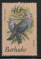 Barbados, Scott # 571 Mint Hinged Birds, 1982, Small Corner Crease - Barbados (1966-...)