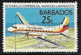 Barbados, Scott # 739 Used Commercial Aviation Anniv., 1989 - Barbados (1966-...)