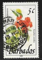 Barbados, Scott # 754 Used Wild Plants, 1989 - Barbados (1966-...)