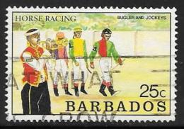 Barbados, Scott # 773 Used Horse Racing, 1990 - Barbados (1966-...)