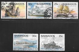 Barbados, Scott # 872-6 Used Ships, 1994 - Barbados (1966-...)