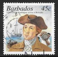 Barbados, Scott # 1010 Used George Washington, Ship, 2001 - Barbados (1966-...)