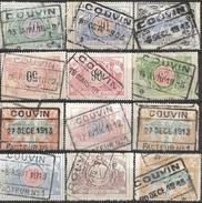 _7S-051: COUVIN:  12 Verschillende Zegels - 1895-1913
