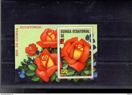 GUINEE EQUATORIALE MICHEL BLOC 315**SUR LES ROSES  LA ROSE BAJAZZO - Guinée Equatoriale