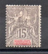 GUADELOUPE - YT N° 42 - Neuf * - MH - Cote 15,50 € - Unused Stamps