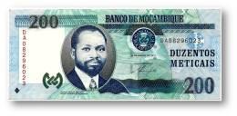 MOZAMBIQUE - 200 METICAIS - 16.06.2011 - P 152 -  Série DA - Samora Moisés Machel - Mozambique