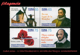 CUBA MINT. 2016-43 IV CENTENARIO DE WILLIAM SHAKESPEARE & MIGUEL DE CERVANTES - Cuba