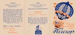 """AC - B2432 - Allemagne - Straubing - Calendrier 1951  Publicitaire  """"Fleurop""""  ( Détails  2 Scans) - Calendars"""