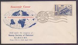 PAKISTAN 1964 Special Postmark On Souvenir Cover, First International Stamp Exhibition At Karachi 18.4.1964 - Pakistan