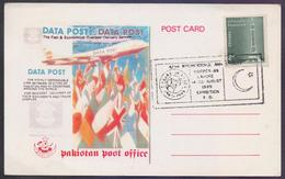 PAKISTAN 1989 Special Postmark On Souvenir Cover Postcard On Indepex'89 Stamp Exhibition Lahore 14-20 August 1989