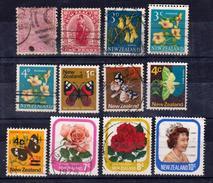 NOUVELLE ZELANDE – NEW ZEALAND – 1872 à 1977 12 Timbres OBLITERES Bon état - Used Stamps