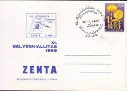 YUGOSLAVIA - JUGOSLAVIA -  PHILAT. EXHIBITION 25y PHILATELIC SOCIETU - SENTA - 1969 - Philatelic Exhibitions