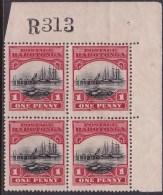 Cook Islands 1924 SG.82 Wmk Mint Never Hinged Plate Block - Islas Cook