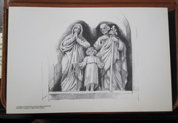 HOLY LAND DRAWING ILLUSTRATION PAINTING TERRE SAINTE RAPHY MAYMON CHURCH SAINT JOSEPH NAZARETH EGLISE PICTURE 23 X 30