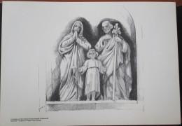 HOLY LAND DRAWING ILLUSTRATION PAINTING TERRE SAINTE RAPHY MAYMON CHURCH SAINT JOSEPH NAZARETH EGLISE PICTURE 23 X 30 - Religion & Esotericism