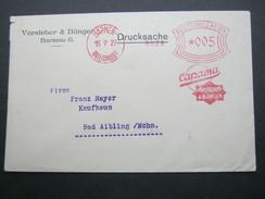 Firmen Freistempel , Meterstempel Auf Beleg Aus Barmen Rittershausen  1927 - Deutschland