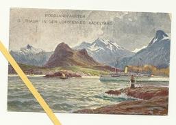 AK Lofoten - Kabelvaag - Nordlandfahrten - Österreichischer LLoyd Triest - Marine - K.u.K - Norvège