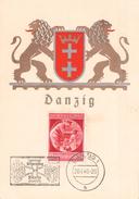 DEUTSCHES REICH - GEBURTSTAG DES FÜHRERS DANZIG 20.4.1940 Mi #744 - Germania