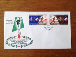 FDC 1969 3eme Jeux Du Pacifique Sud Zone Française - FDC