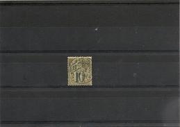 NOUVELLE CALÉDONIE  Année 1892/93 N° Y/T : 40 Oblitéré Côte:26 € - Gebraucht