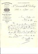 Ref 01/ 59 Lille, Decourchelle-Debay, Tissages Mécaniques, 1906, Pour Valette 15 - France