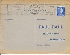 ALGERIE  -  ORAN RP  - FLAMME N° 12 R 4  ACHETEZ / LE TIMBRE / ANTITUBERCULEUX    1958 - TIMBRE FRANCAIS - Covers & Documents