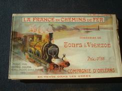 La France En Chemin De Fer : Itinéraire De TOURS à VIERZON En 1903 - Compagnie D'Orléans No 9 De La Collection - Europe