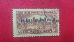 POLAND 1959 PHILATELIC EXHIBITION BALPEX I GDANSK 1959 FISCHER 974 OVERPRINT - 1944-.... Republic