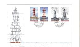 Aland FDC 2008 Fari/lighthouses  4 Valori - Aland