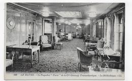 PAQUEBOT PARIS - LE HAVRE - N° 508 - LA BIBLIOTHEQUE - LIBRARY - CPA NON VOYAGEE - 76 - Paquebots