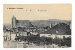 MONEIN   (cpa 64)  La Place Marcadieu - Au Dos Cachet Sels De La Mouette à NANCY (54) -   - L 1 - France