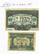 LOT DE 4 BILLETS - 1871-1952 Antichi Franchi Circolanti Nel XX Secolo